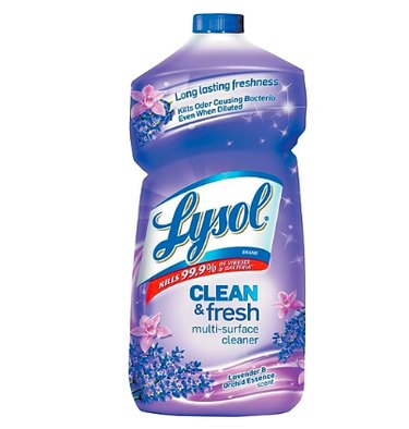 purple bottle of lysol all purpose cleaner