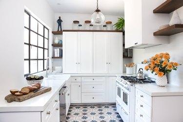 Jamie Chung's kitchen by Decorist. Photo credit Jana Williams