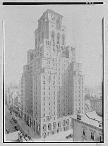 black and white photo of the Barbizon Hotel