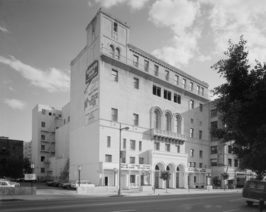 black and white photograph of the Friday Morning Club circa 1980