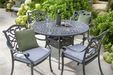 Wrought-iron table set