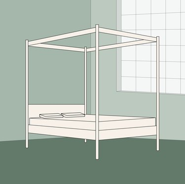 canopy bed illustration
