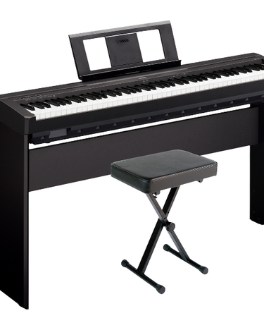 Yamaha P-45LXB Digital Piano with Stand and Bench Black, $629.97