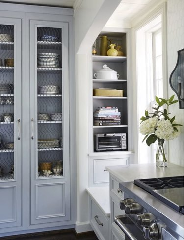 traditional kitchen cabinet doors with mesh wire