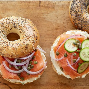 h&h bagels cream cheese salmon