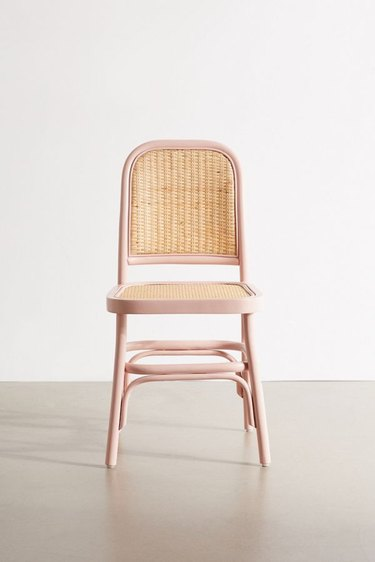 blush room decor with chair by Urban Outfitters