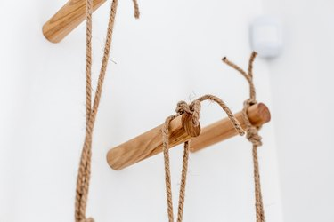 Knotted natural rope