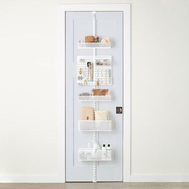 small kitchen storage idea door rack