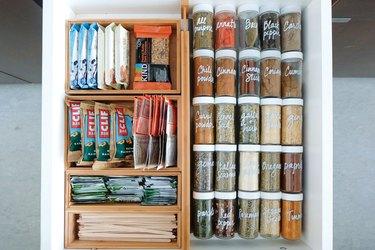small kitchen storage idea for kitchen drawer