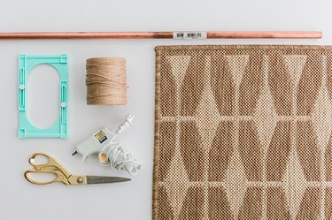 Here's everything you need to turn your rug into a wall hanging.