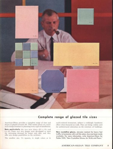 colored tile from 1960