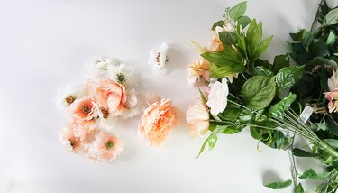 Remove flowers away from stems.
