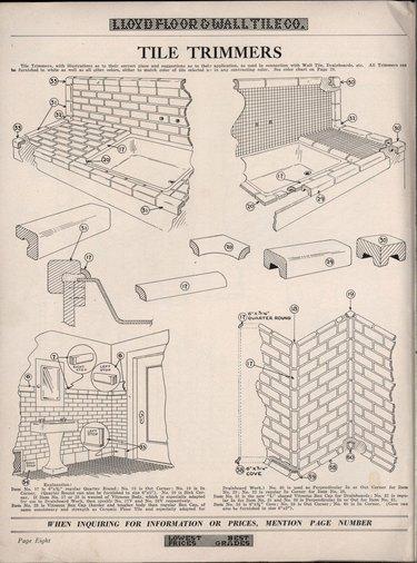 subway tile diagrams