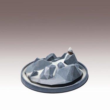 sculptural concrete incense holder