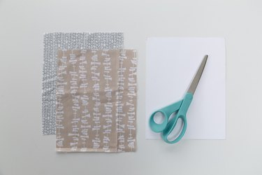 Easy No-Sew Face Mask Tutorial: Fabric and scissors