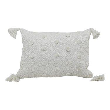 """Better Homes & Gardens 13"""" x 19"""" Outdoor Toss Pillow, Ivory Woven, $14.85"""