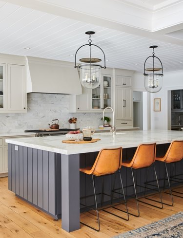 Benjamin Moore paint color Wrought Iron in kitchen