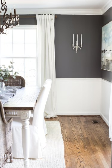 Benjamin Moore paint color Kendall Charcoal in dining room