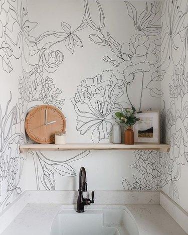 DIY sharpie wallpaper