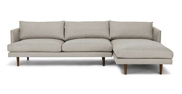 gray couch living room idea from Article