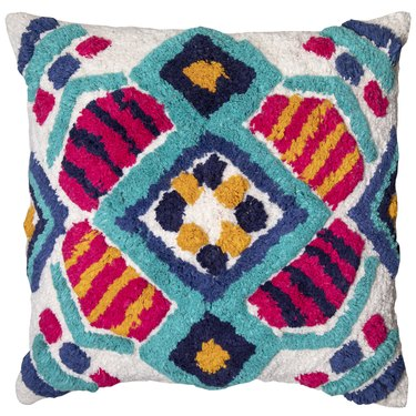 """Better Homes & Gardens Lima Print Tufted Decorative Throw Pillow, 18"""" x 18"""""""
