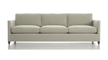 Crate and Barrel three-seat sofa in gray