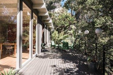Brian Lane and Lucy Gonzalez Home Tour - Exterior Deck
