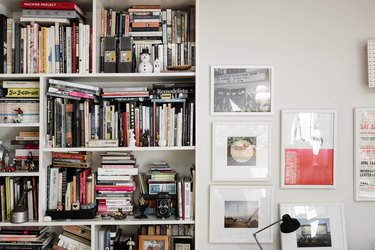Brian Lane and Lucy Gonzalez Home Tour - Bookshelf