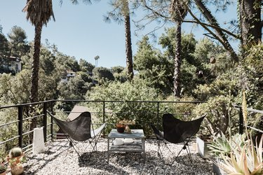 Brian Lane and Lucy Gonzalez Home Tour - Deck With Chairs