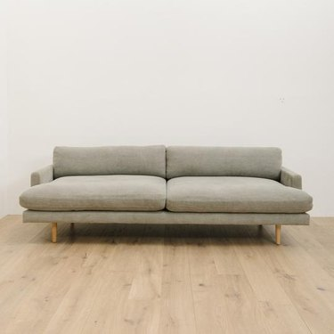 gray couch living room idea from Shoppe by Amber Interiors