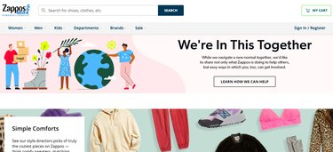 zappos home page