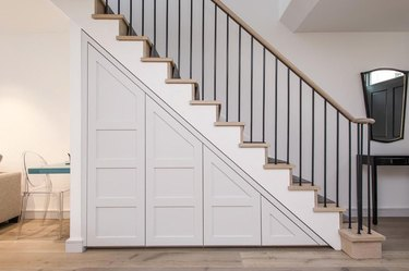 under the stair idea with push-release drawers
