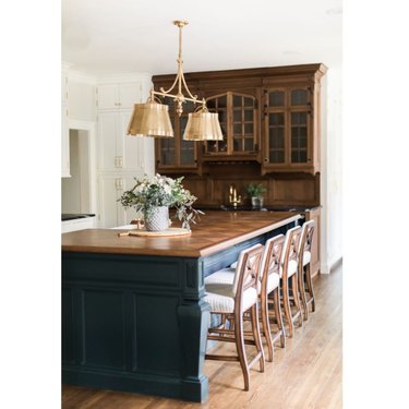 Kitchen island lighting idea with modern traditional fixture