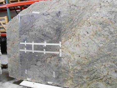 Template on granite slab.