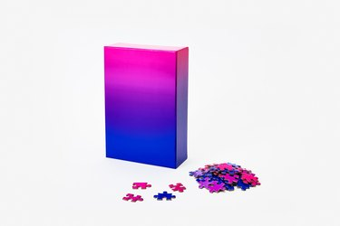 ombre inspired puzzle from Areaware