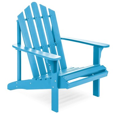 blue outdoor lounge chair