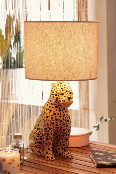 urban outfitters leopard lamp