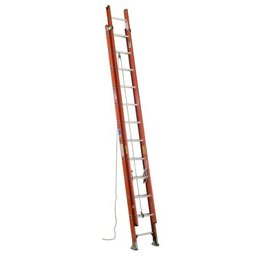 Extension ladder.