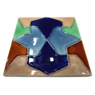 "Solistone Conos 6"" x 6"" Hand-Painted Ceramic Deco Wall Tile"