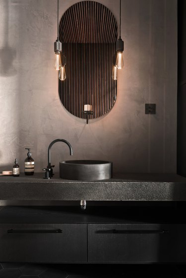 industrial style bathroom of Buster + Punch founder Massimo Minale