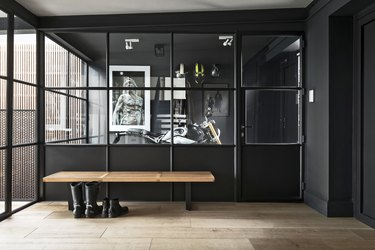 industrial style garage of Buster + Punch founder Massimo Minale