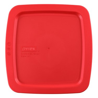 """Pyrex Red Lid for 8"""" Square Glass Baking Dish"""