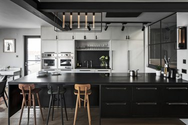 industrial style kitchen of Buster + Punch founder Massimo Minale