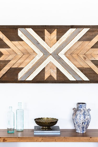 reclaimed wood artwork