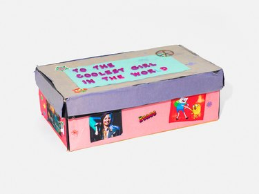 shoe box with decorations
