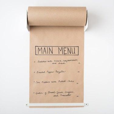 Butcher paper holder farmhouse kitchen idea