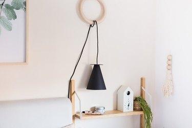 DIY bedroom idea bedside lamp