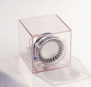 clear cube bluetooth speaker