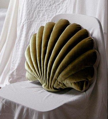 Tamar Mogendorff Velvet Shell Pillow, $160