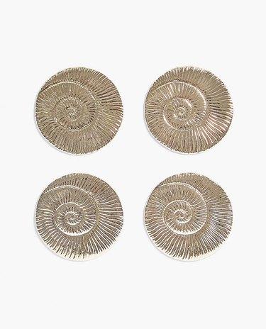 Zara Home Shell-Shaped Coasters (4), $35.90